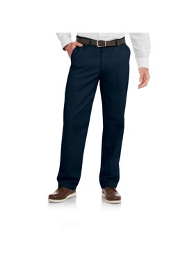 b191db4691 Product Image George Men s Wrinkle Resistant Flat Front 100% Cotton Twill Pant  with Scotchgard