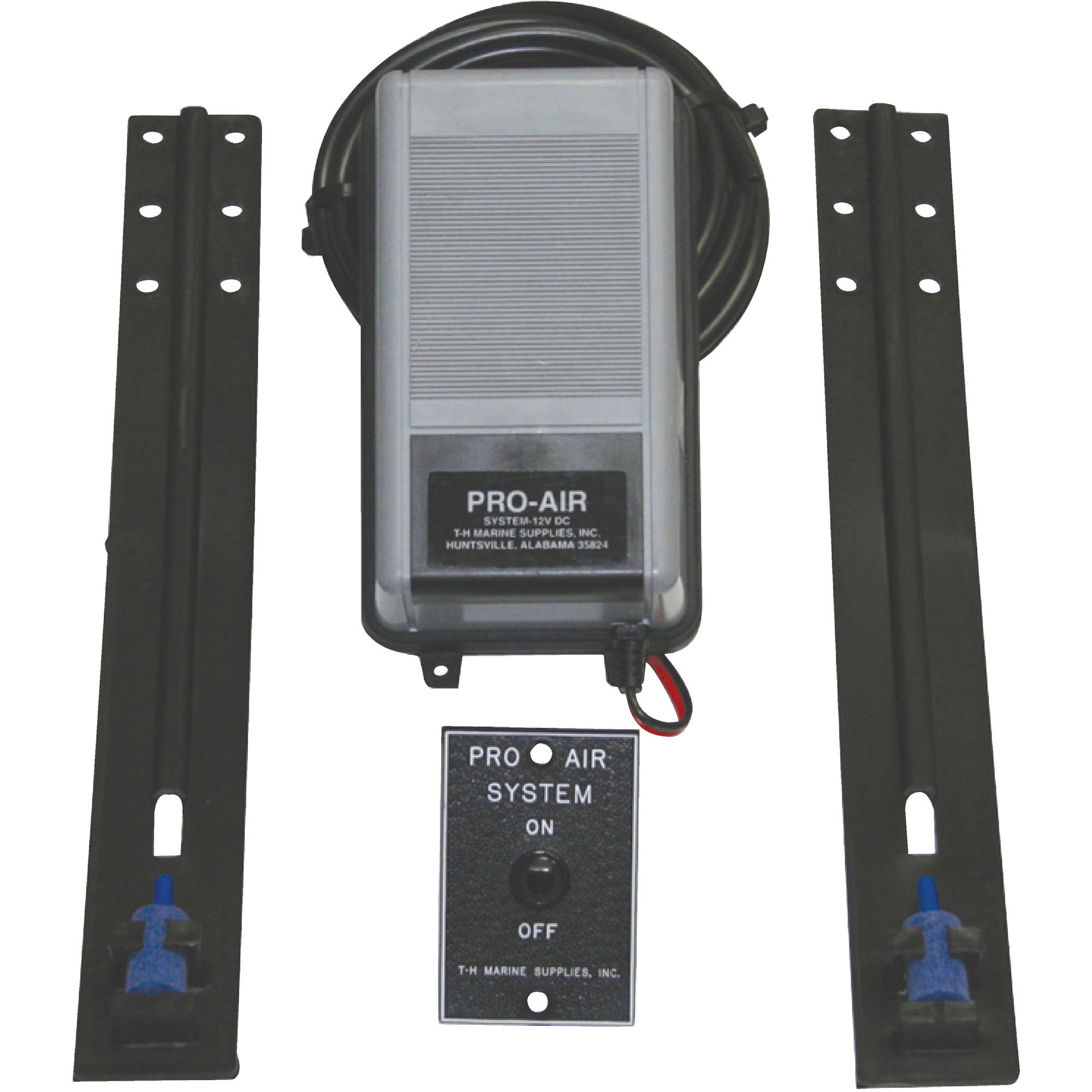 T-H Marine 12V Complete Pro-Air System Livewell Aeration Kit with Air Stones