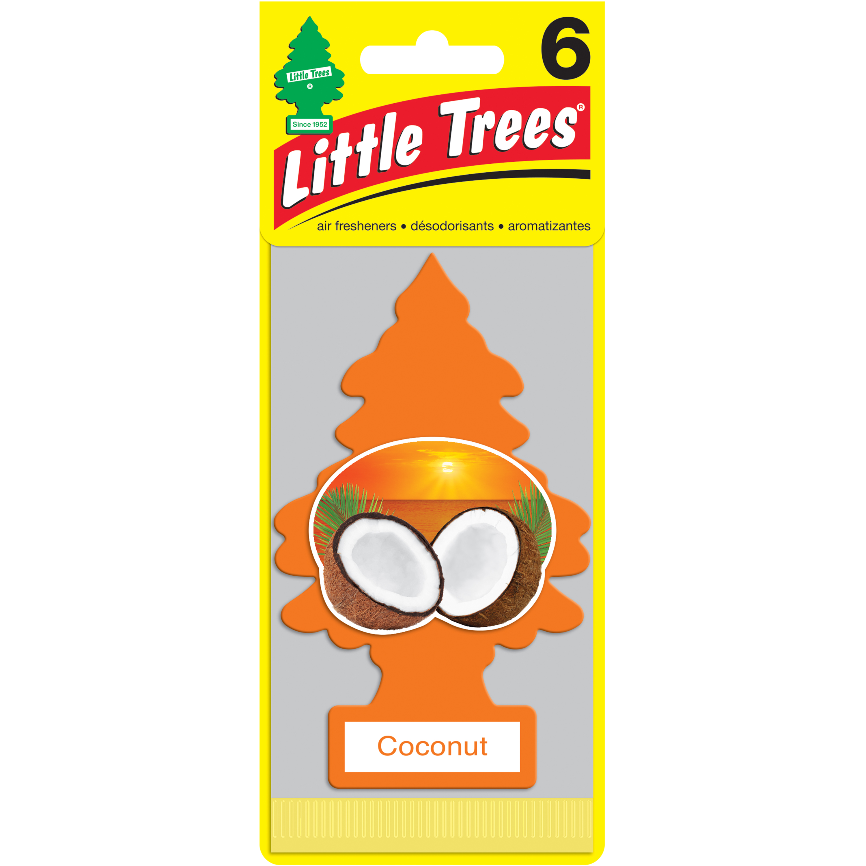 LITTLE TREES air freshener Coconut 6-Pack