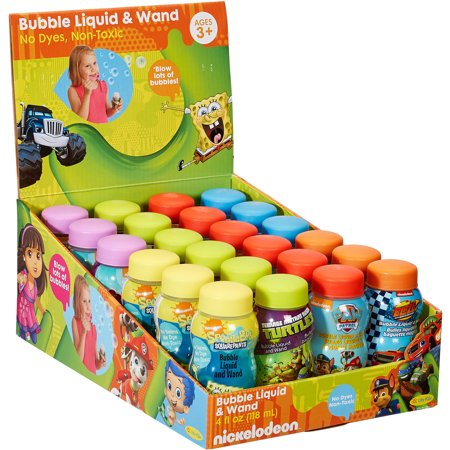 Little Kids Nickelodeon 4 fl oz Bubbles with Wands, 24pk](Large Bubble Wands)