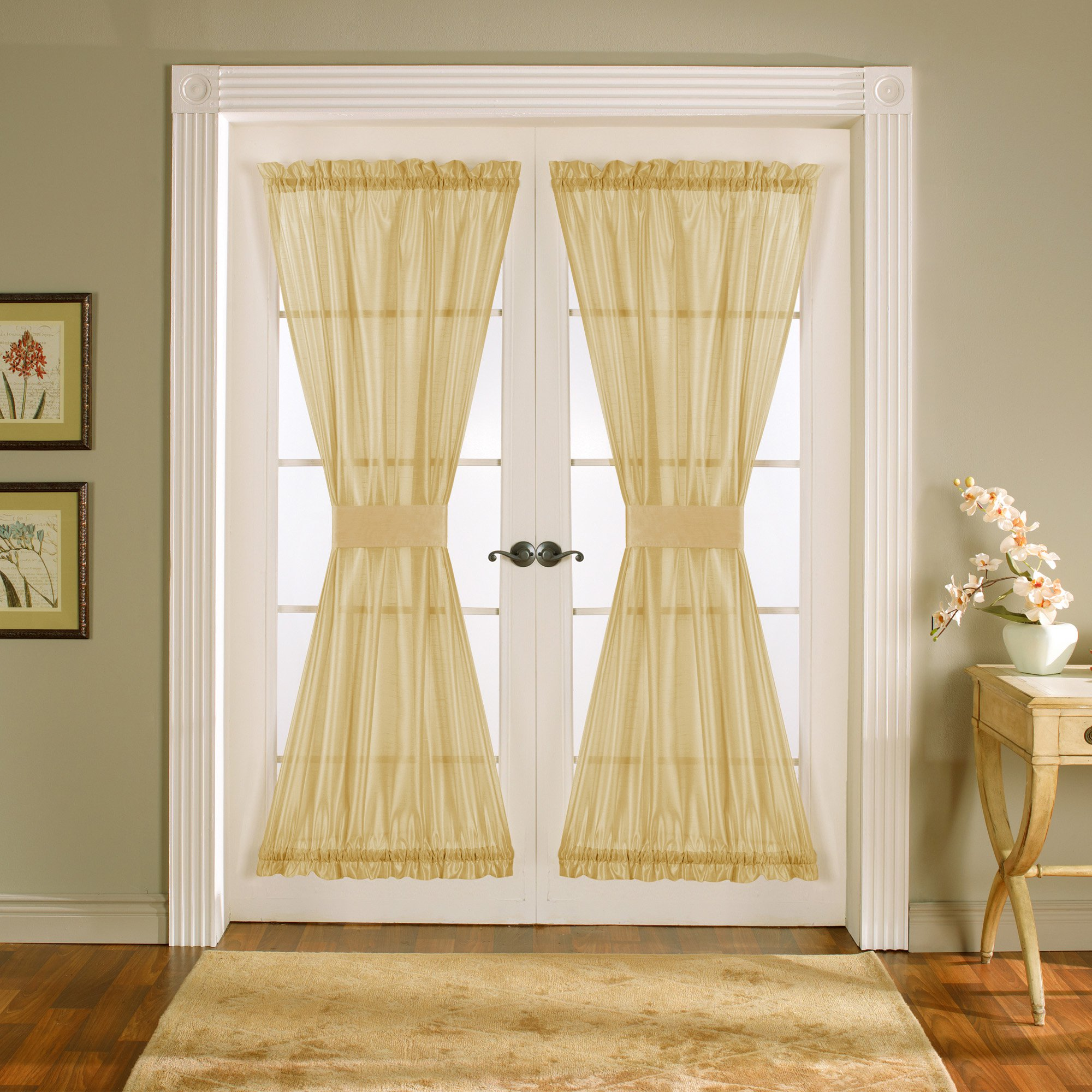 Sidelight curtains walmart - Lush Decor Sonora Door Curtains One Pair Of Panels With Tie Backs
