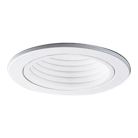 Halo 4001WB 4 Inch White Step Baffle Trim Round White 3 Inch Step Baffle Trim