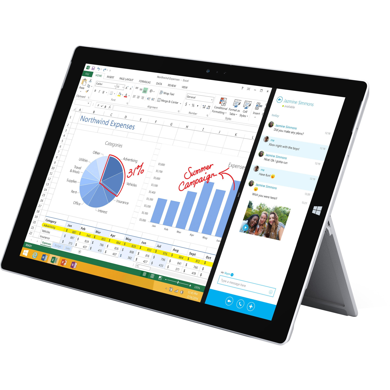 Microsoft Surface Pro 3 Tablet (12-Inch, 128 GB, Intel Core i5, Windows 10) MQ2-00019