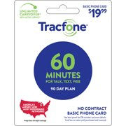 Tracfone $19.99 Basic Phone 60 minutes 90-Day Prepaid Plan e-PIN Top Up (Email Delivery)