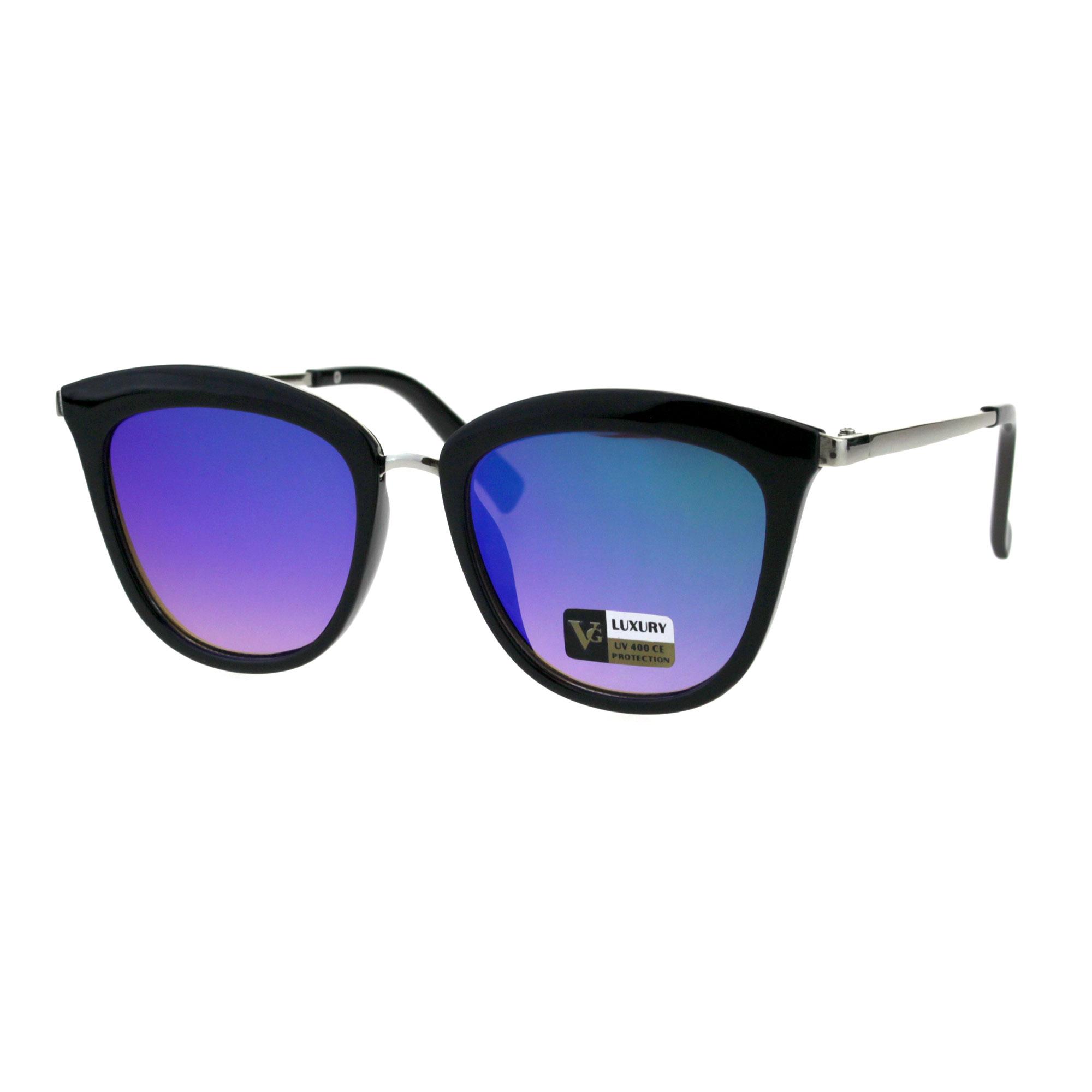 VG Designer Sunglasses Womens Ladies Cat Eye Vintage Large Black UV400 V2 New