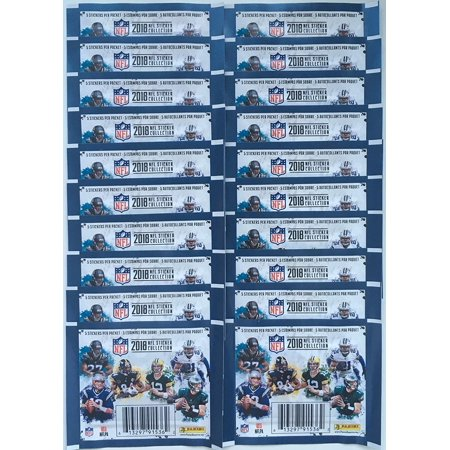 2018 Panini NFL Football Sticker Collection 20 Packs (100