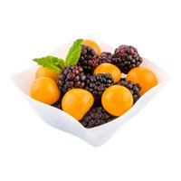 White Plastic Bowl, Aqua Bowl, Wavy Bowl - 6 oz - Premium Plastic - Disposable Plastic Bowls Great for Parties and Catered Events - 100ct Box