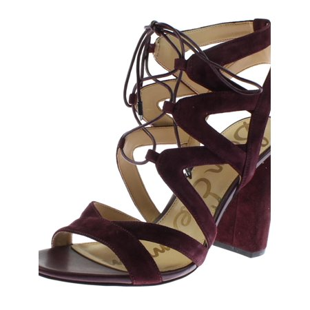 0ca05ea1e85e7f Sam Edelman Womens Yardley Cut-Out Lace-Up Evening Sandals - Walmart.com