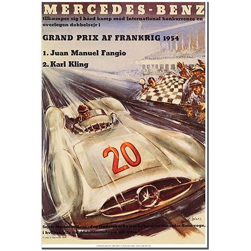 """Trademark Fine Art """"Mercedes Benz"""" Canvas Art by H. Liskars"""