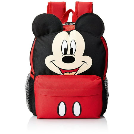 Mickey Mouse Happy Face 3D Ears 12 Toddler (The Best North Face Backpack For School)