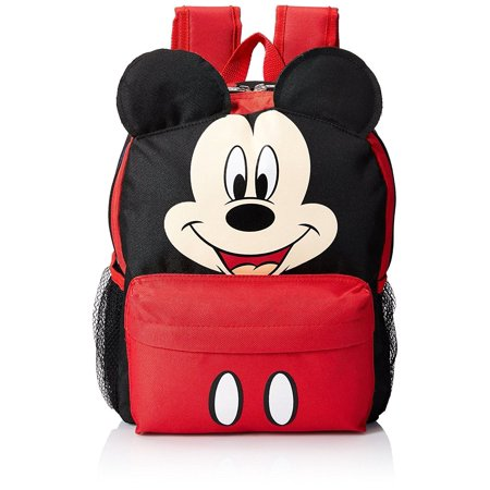 Mickey Mouse Happy Face 3D Ears 12 Toddler Backpack