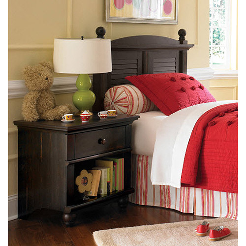 Sauder Harbor View Collection Full/Queen Headboard and Nightstand Set, Antiqued Paint