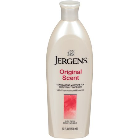 (2 pack) Jergens Original Scent Dry Skin Moisturizer with Cherry Almond Essence, 10 fl. (Dove Scented Moisturizer)