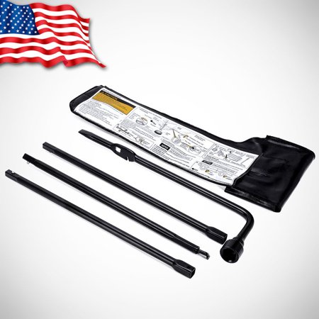 Spare Tire Lug Wrench & Jack Tool Kit for Chevy GMC Cadillac Pickup Truck SUV US ()