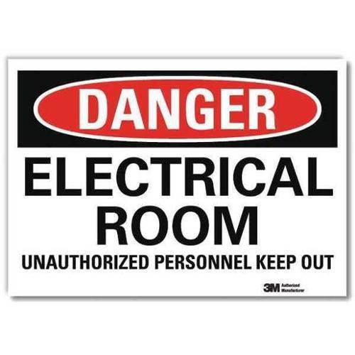 LYLE U3-1411-RD_14X10 Danger Sign,Slf-Adhesv Mount,14inWx10inH G0707631