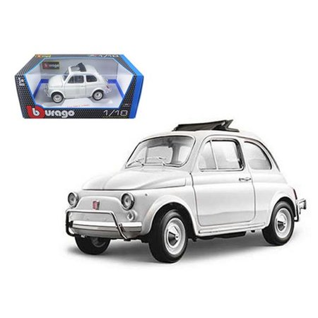 1968 Fiat 850 - Bburago 12035w 1968 Fiat 500 L White 1-18 Diecast Model Car