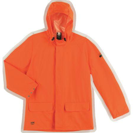 HELLY HANSEN 70129_290-L Rain Jacket, PVC/Polyester, Orange, L