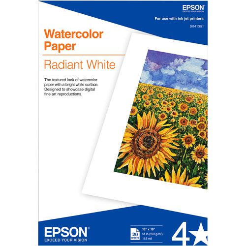 "Epson Radiant White Photographic Paper, 13"" x 19"""