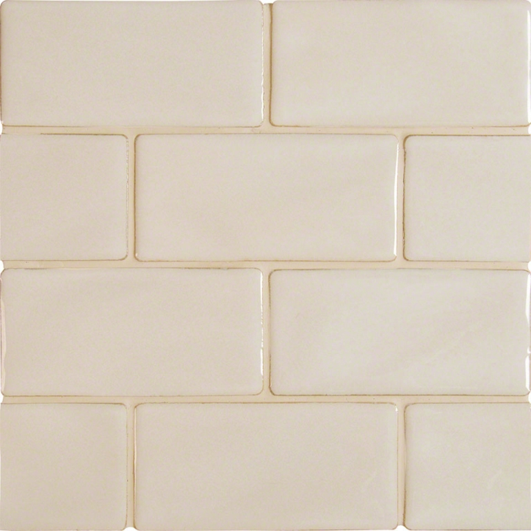 10 Sq Ft. Of  Antique White 3x6 Glazed Handcrafted Subway