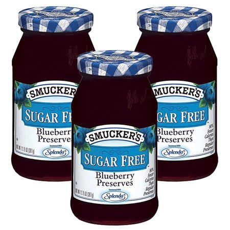 (3 Pack) Smucker's: Blueberry Sugar Free Preserves, 12.75 (Blueberry Sauce)
