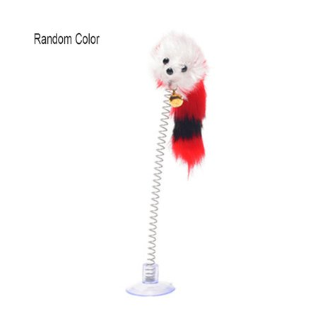 Feather Funny Cat Mice Shape False Mouse Pet Products Bottom Sucker Elastic - image 1 of 6