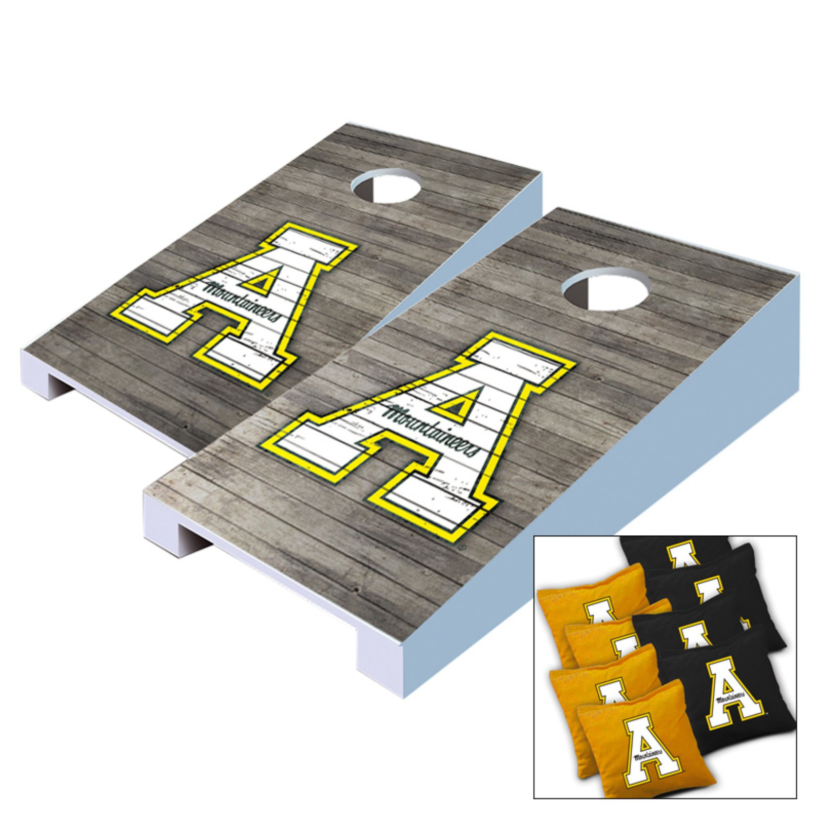 NCAA Distressed Tabletop Cornhole Set by AJJ Cornhole