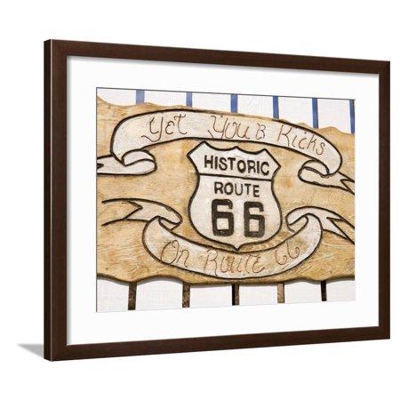 Route 66 Memorabilia - Memorabilia, Route 66 Motel, Barstow, California, United States of America, North America Framed Print Wall Art By Richard Cummins
