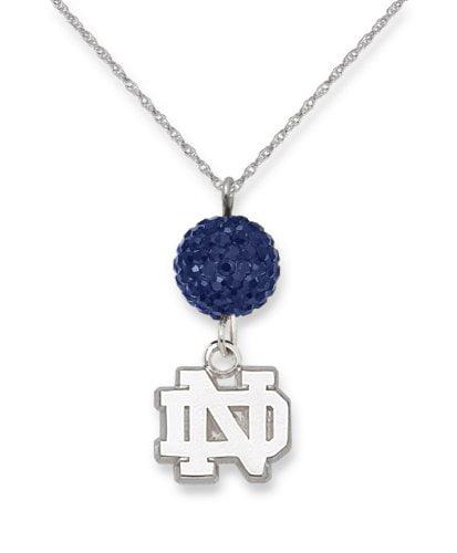 University of Notre Dame S/S UNIV OF NOTRE DAME CRYSTAL OVATION NECKLACE