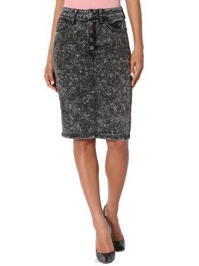 d3a6675c2 Product Image TheMogan Women's Vintage Acid Wash Jean High Waist Midi Pencil  Denim Skirt