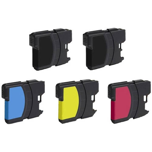 Universal Inkjet Compatible Multipack for Brother LC61, 5-Pack