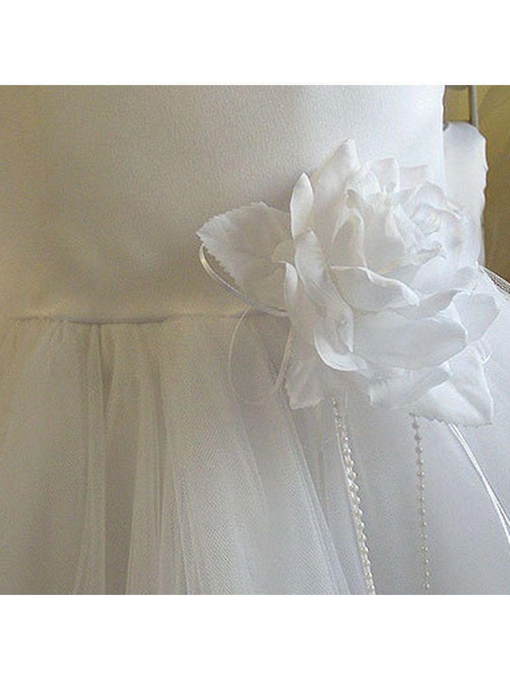 7829d52d115 Kids Dream - Kids Dream Little Girls White Petal Flower Girl Dress 6 -  Walmart.com