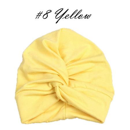 Infant Baby Turban Toddler Kids Boy Girl Cotton Blends Hat Lovely Soft - Rose Hat