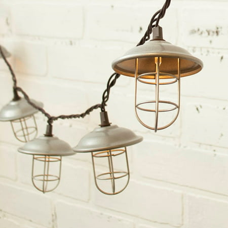 Null String Lights Nautical Cage 6 Feet Outdoor Plug In Warm White