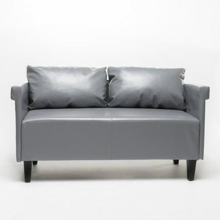 Alanys Leather Settee Sofa ()