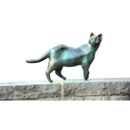 Framed Art for Your Wall Wall Cat Psd Stone Bronze Isolated Statue 10x13 Frame