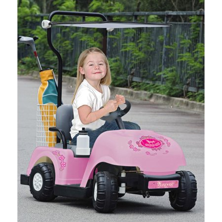 Kid motorz golf cart with golf bag battery powered riding for Motorized ride on suitcase