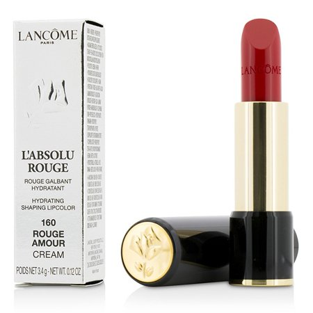 Lancome LAbsolu Rouge Hydrating Shaping Lipcolor - # 160 Rouge Amour - Cream 0.12 oz Lipstick (Labsolu Rouge Lip Color)