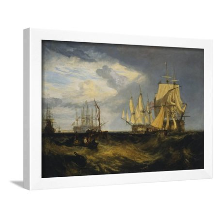 Spithead: Two Captured Danish Ships Entering Portsmouth Harbour Framed Print Wall Art By J. M. W. Turner - Ship To Denmark