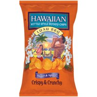 Hawaiian Kettle Cooked Sweet & Spicy Luau BBQ Flavored Potato Chips 2 Oz.