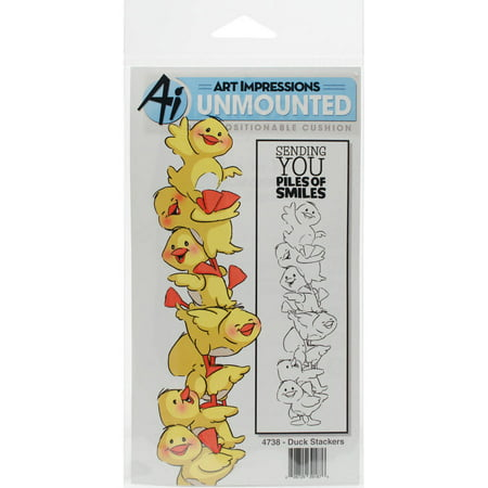 Art Impressions Stackers Cling Rubber Stamp Set, 7