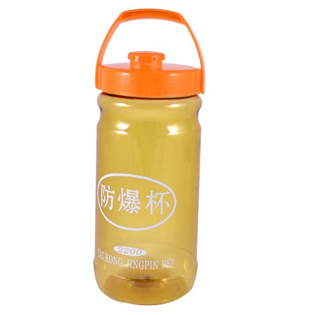 Unique Bargains Portable Clear Yellow Plastic Drinking Cup Tea Water Bottle - Yellow Water Bottle