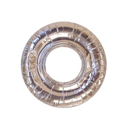 40 Pc Aluminum Foil Round Gas Burner Bib Oven Liners Covers Wholesale 7.5