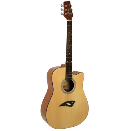 Kona K1GL Acoustic Dreadnought Cutaway Guitar With Spruce Top And Natural High Gloss Finish (Acoustic Guitar Gloss Natural)