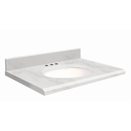 Transolid Natural Marble 25 X 19 Bathroom Vanity Top With Beveled Edge 8