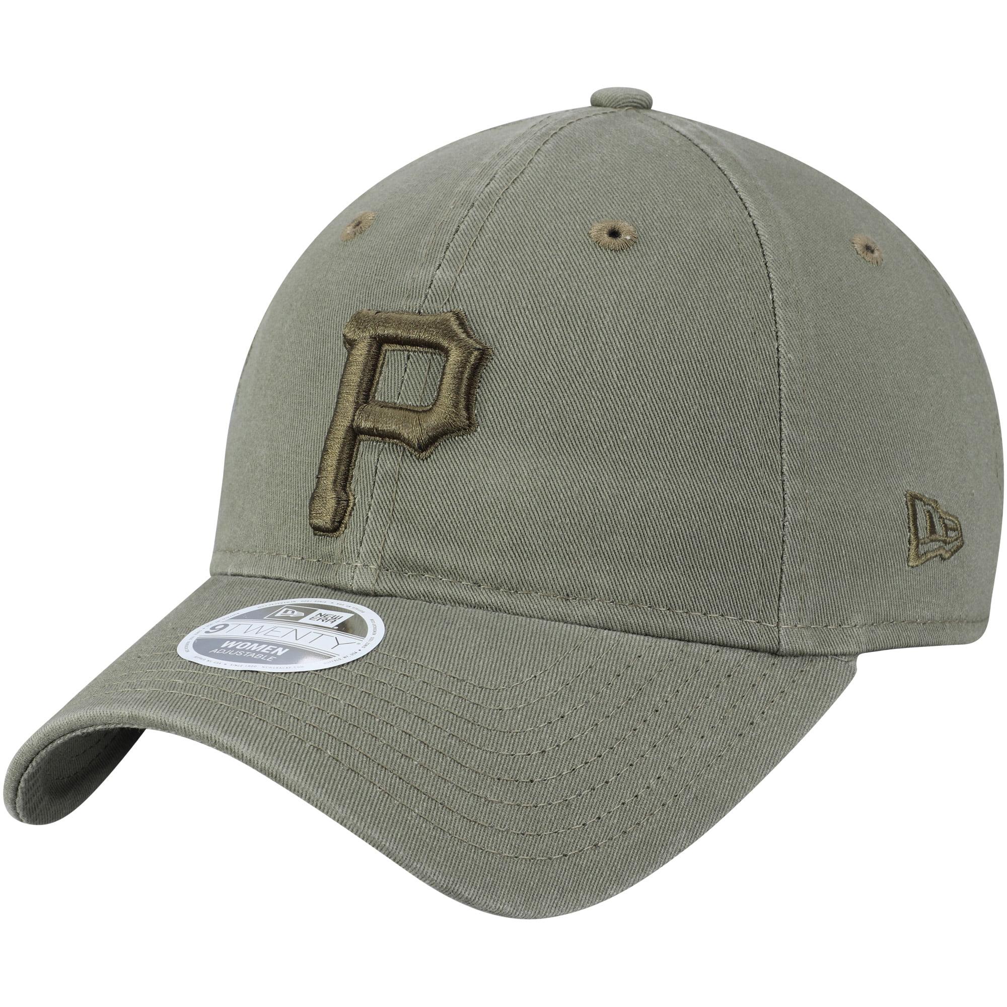 Pittsburgh Pirates New Era Women's Bark Tonal Core Classic 9TWENTY Adjustable Hat - Olive - OSFA