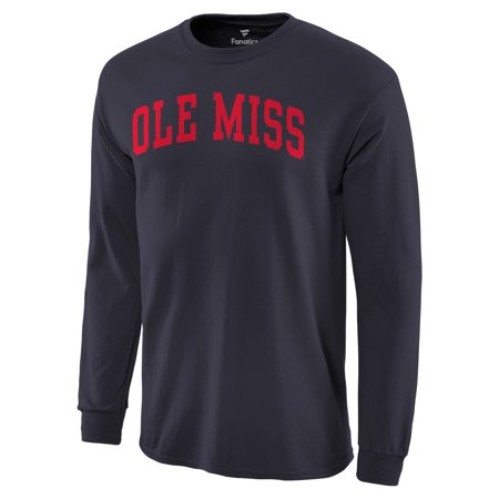 Ole Miss Rebels Basic Arch Long Sleeve T-Shirt - Navy
