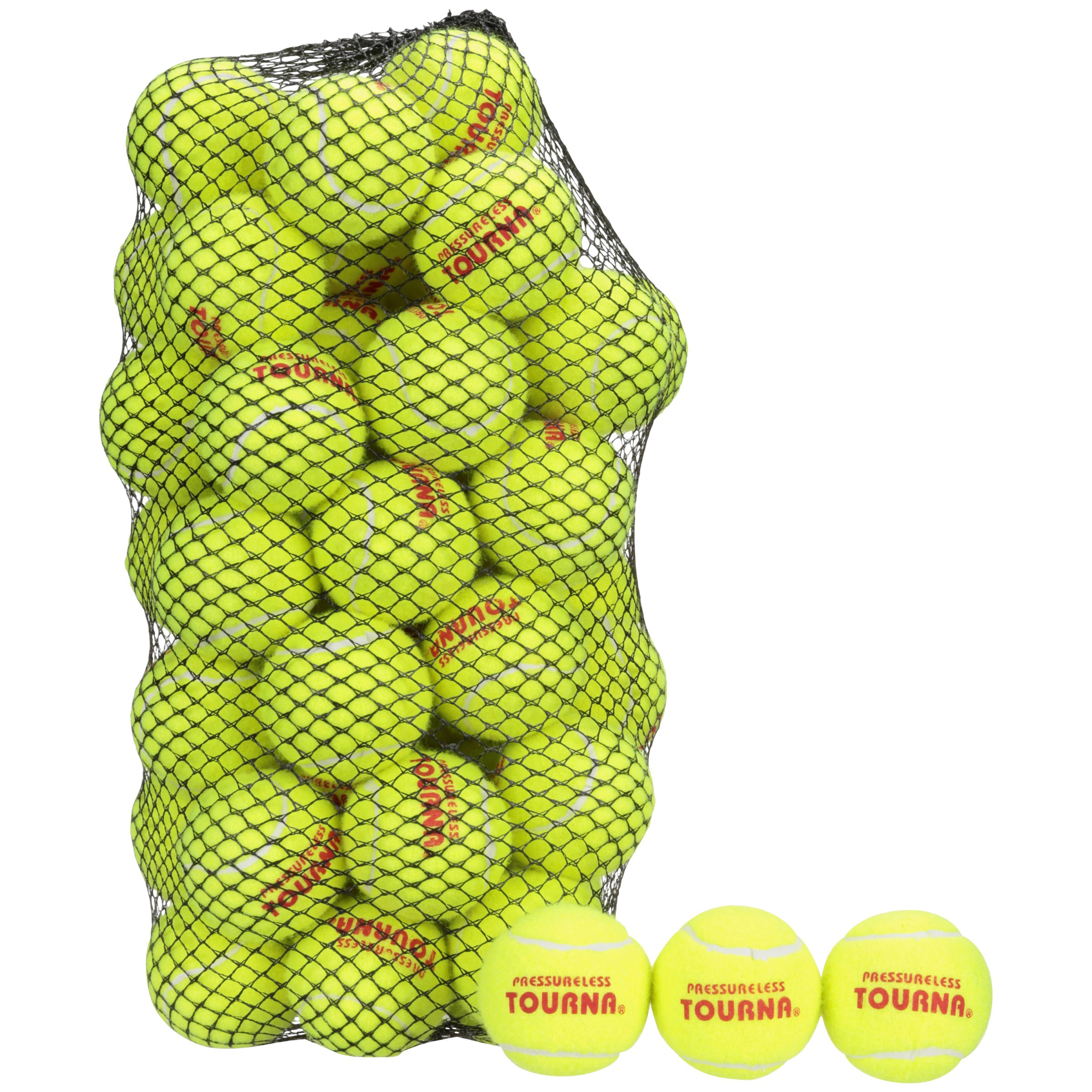 Click here to buy Tourna Pressureless Tennis Balls 60 ct Bag by Unique Sports.