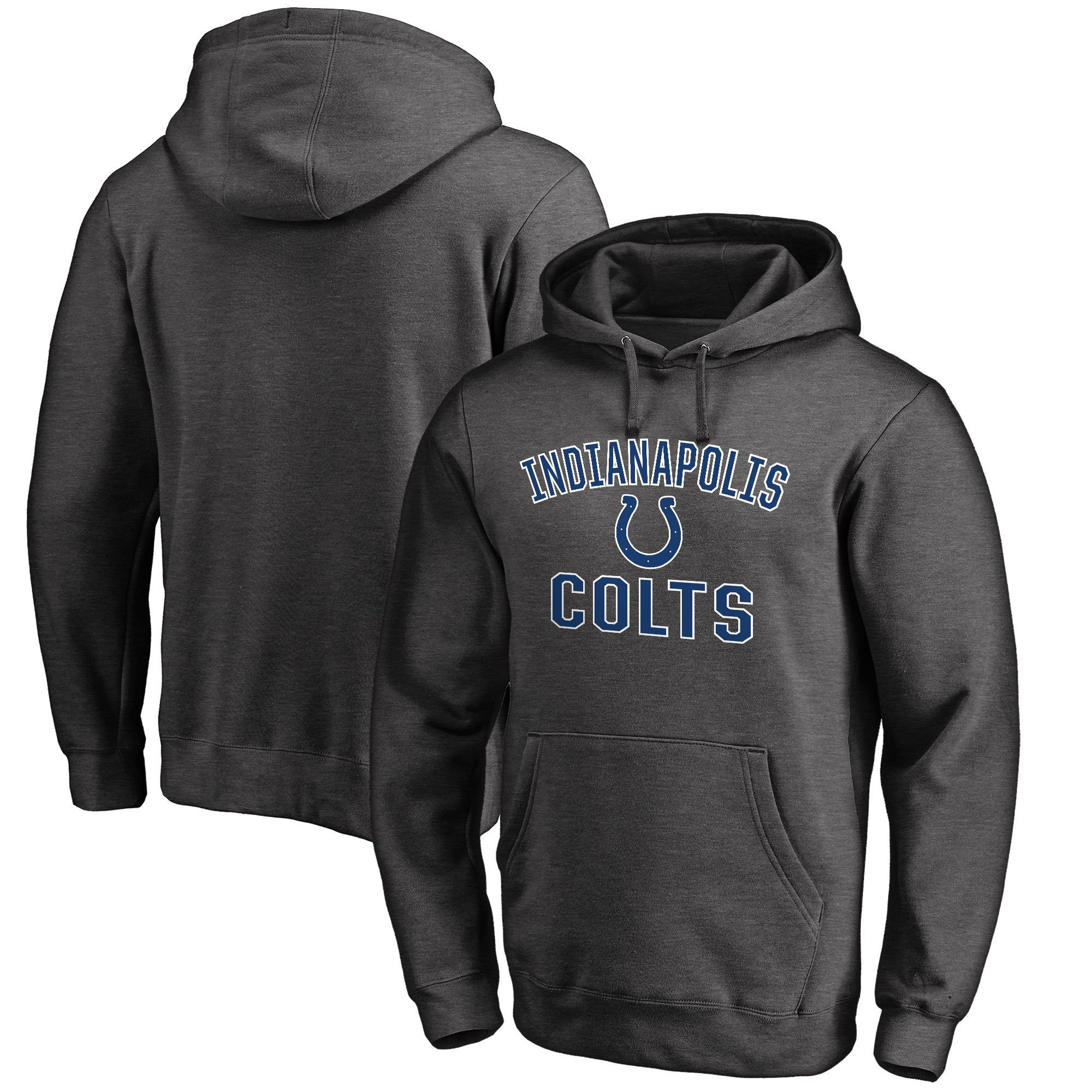 Indianapolis Colts NFL Pro Line Big & Tall Victory Arch Pullover Hoodie - Charcoal