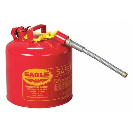 EAGLE Type II Safety Can,5 Gal., Red (Eagle Type)