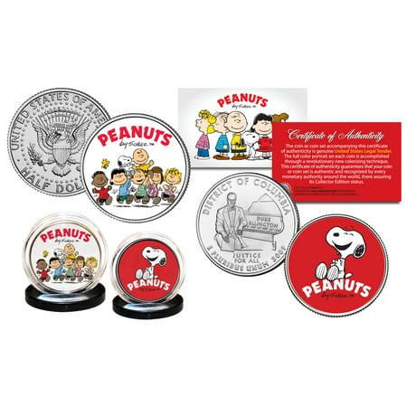 - PEANUTS Charlie Brown - Franklin - SNOOPY DC Quarter & JFK Half Dollar 2 Coins